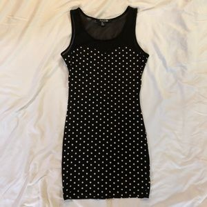 Polka Dotted Fitted Dress